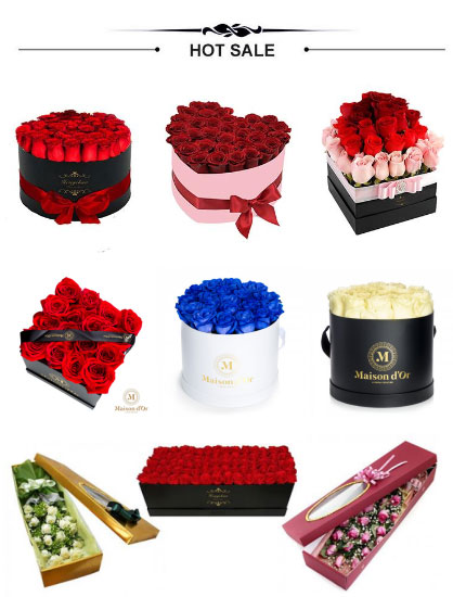 Choose a gift box style for your roses