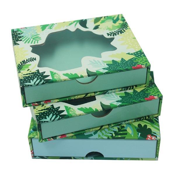 Full Color Prinring Sliding Paper Boxes With Window 02