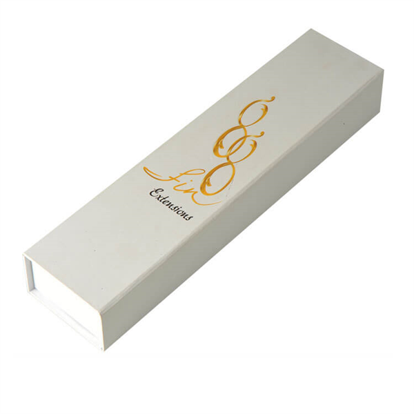 gold logo hair packaging box