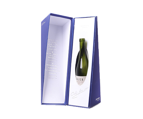 Customized Blue Paper Box for Wine Gift Packaging