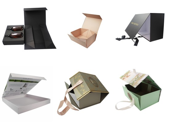 Matte Black Collapsible Paper Box for Gift Packaging 05