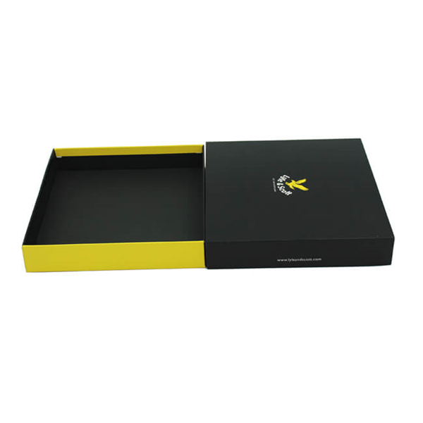 black paper box with lid