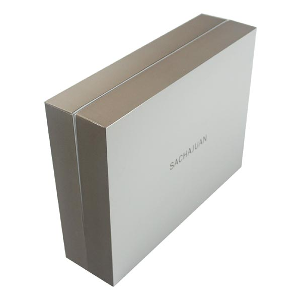 Paper Cosmetic Gift Box with Lids and Plastic Tray 03