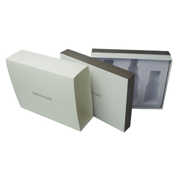 Paper Cosmetic Gift Box with Lids and Plastic Tray 04