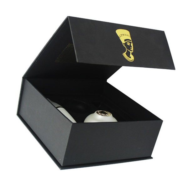 Custom matte black gift box magnet gift box for comestic