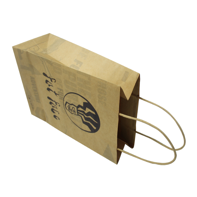 kraft paper bag with twisted rope