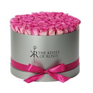 Flower Hat Box with or without Ribbon